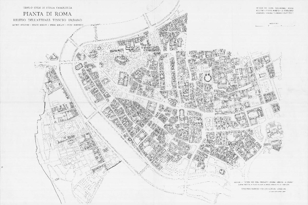 Pianta di roma rilievo dell attuale tessuto urbano for Una storia a pianta aperta