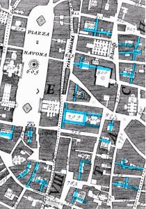Nolli 2 palazzi aree urbane